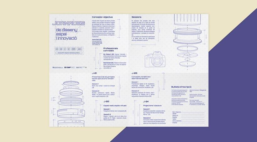 Cuadríptico Jornadas de diseño 2
