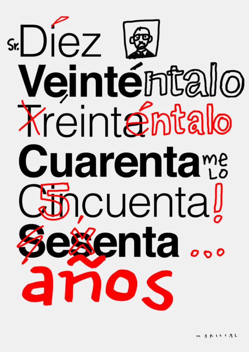 Feliz 60 cumpleaños, Helvetica 6