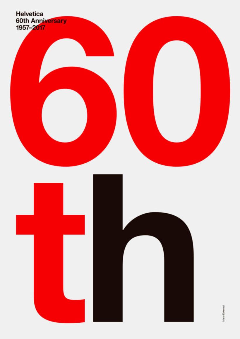 Feliz 60 cumpleaños, Helvetica 12
