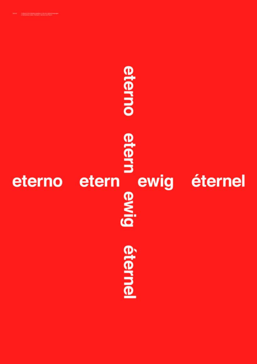 Feliz 60 cumpleaños, Helvetica 14