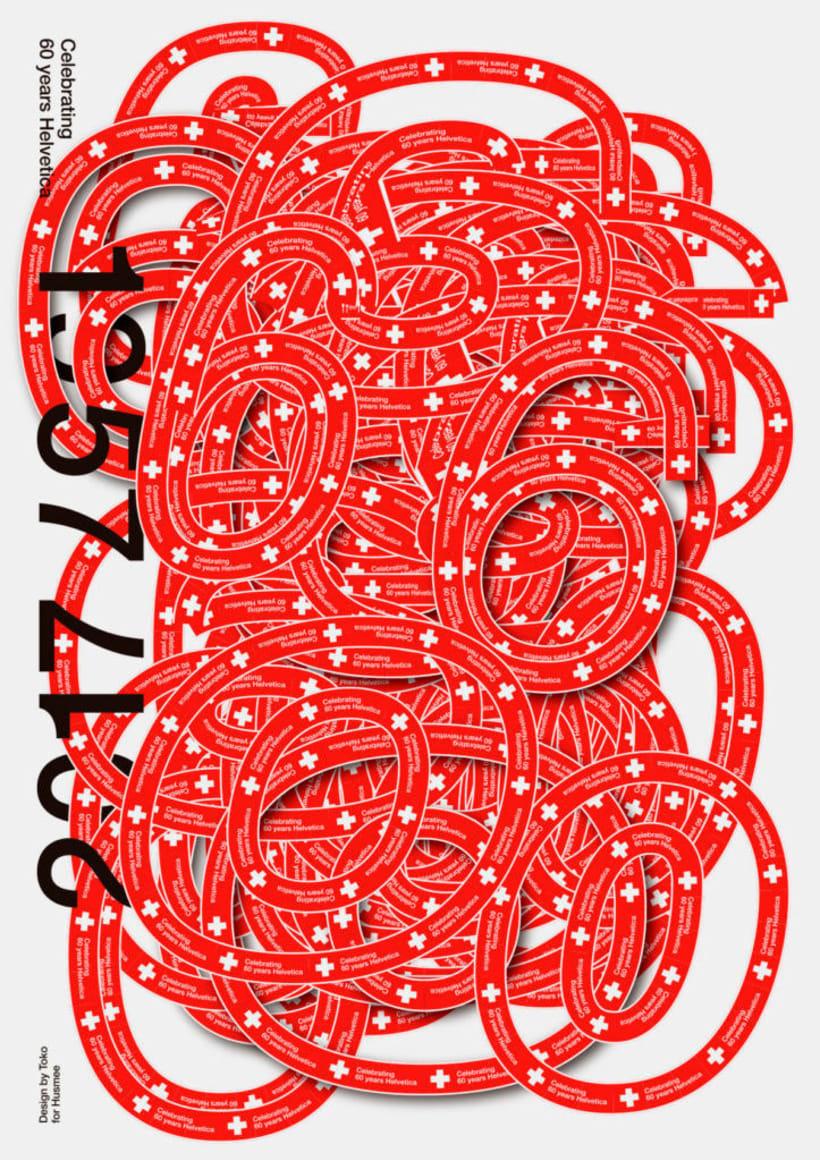 Feliz 60 cumpleaños, Helvetica 18
