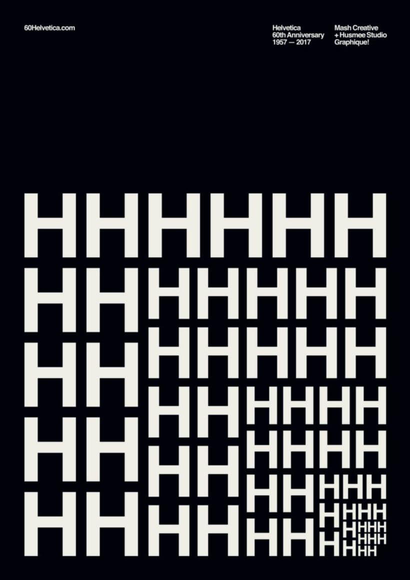 Feliz 60 cumpleaños, Helvetica 22