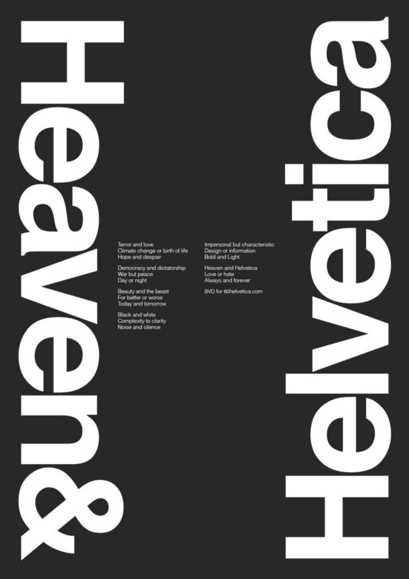 Feliz 60 cumpleaños, Helvetica 40