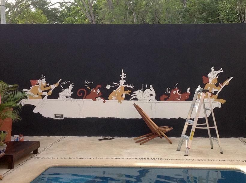 Canoa Cósmica / Pintura Mural 1