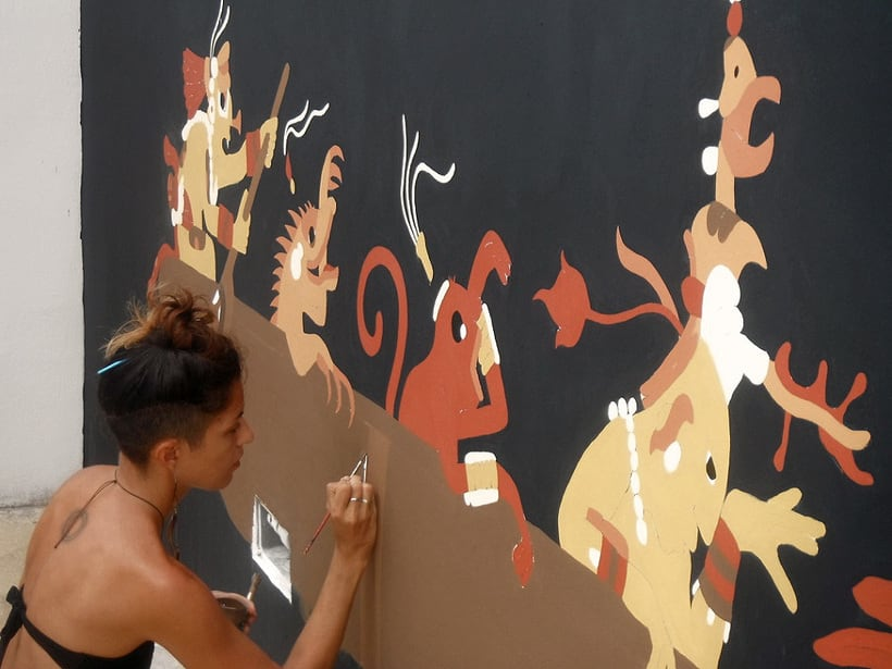Canoa Cósmica / Pintura Mural 3
