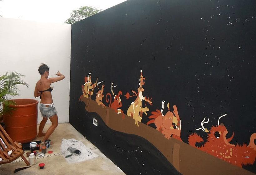 Canoa Cósmica / Pintura Mural 4