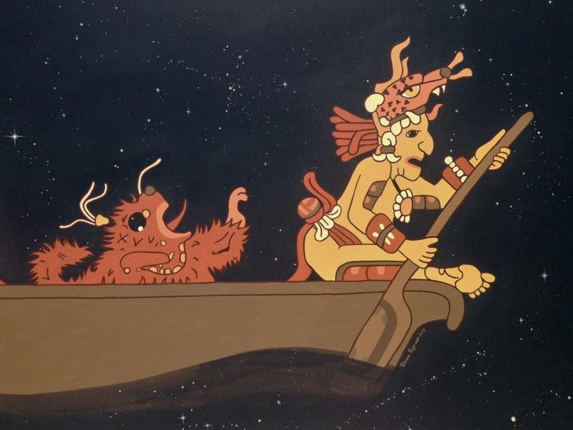 Canoa Cósmica / Pintura Mural 7