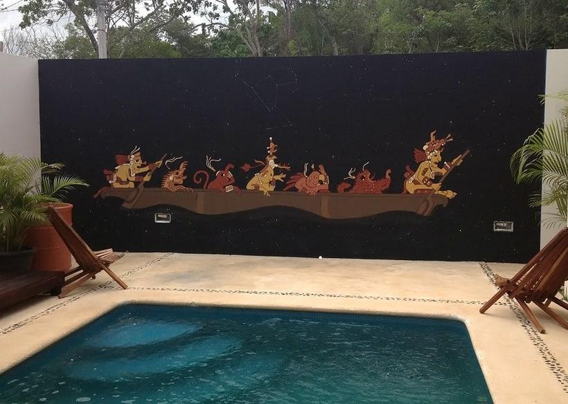 Canoa Cósmica / Pintura Mural 8