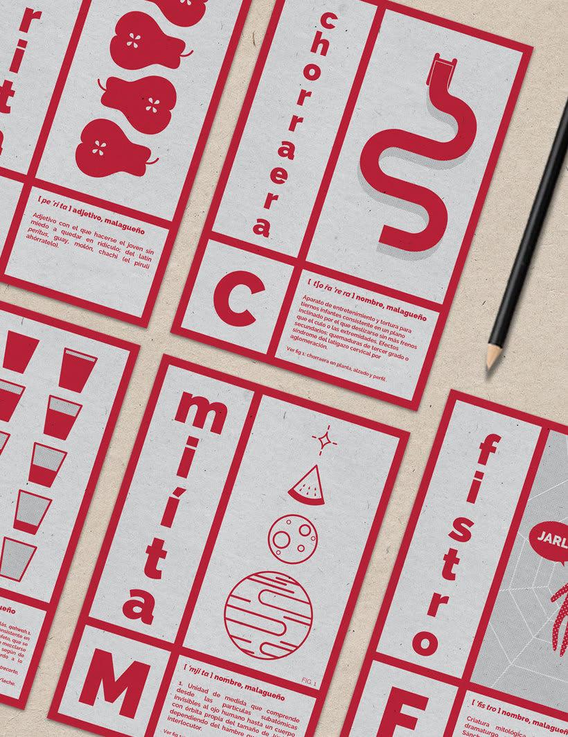 Vocabulario de Málaga - Set de postales 0
