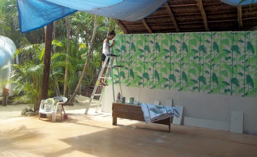 Safari Tulum / Pintura Mural 1
