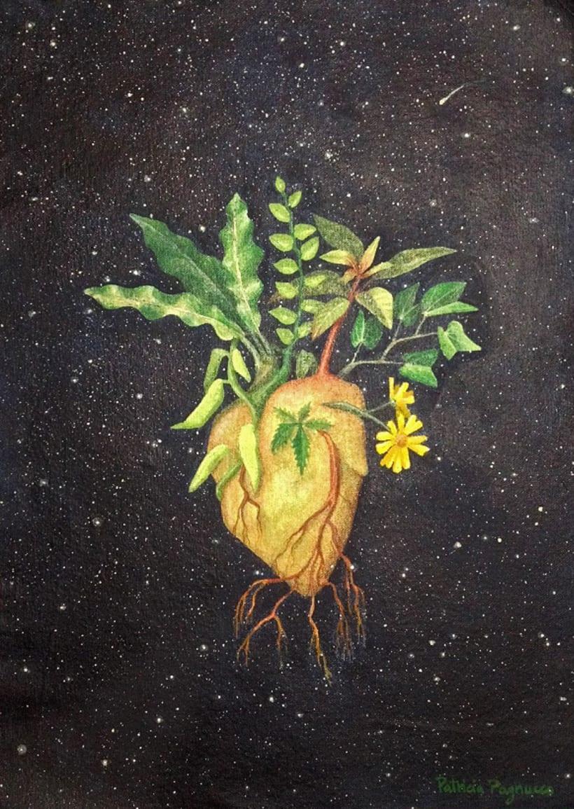 Corazón verde / Pintura -1