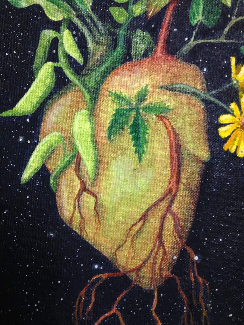 Corazón verde / Pintura 0