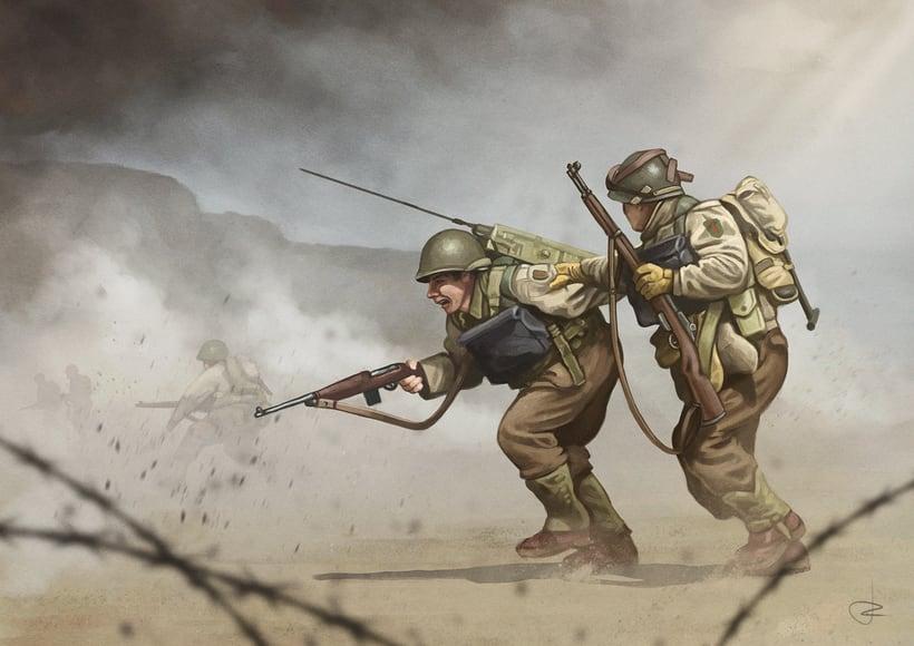WW2 - D-Day, Omaha beach 1944 -1