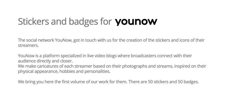 Stickers e iconos para YouNow 1