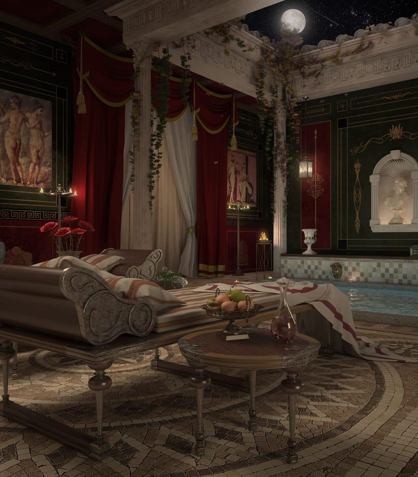 Recreación 3D baño romano 6