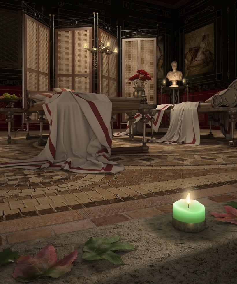 Recreación 3D baño romano 9