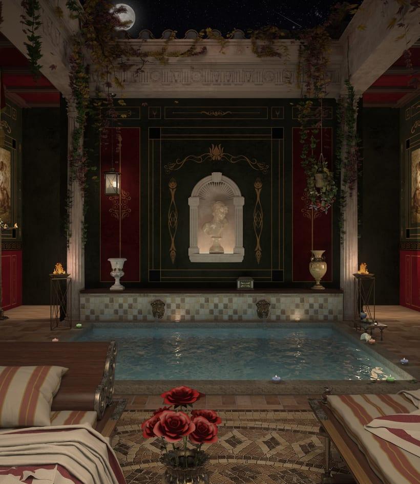 Recreación 3D baño romano 10