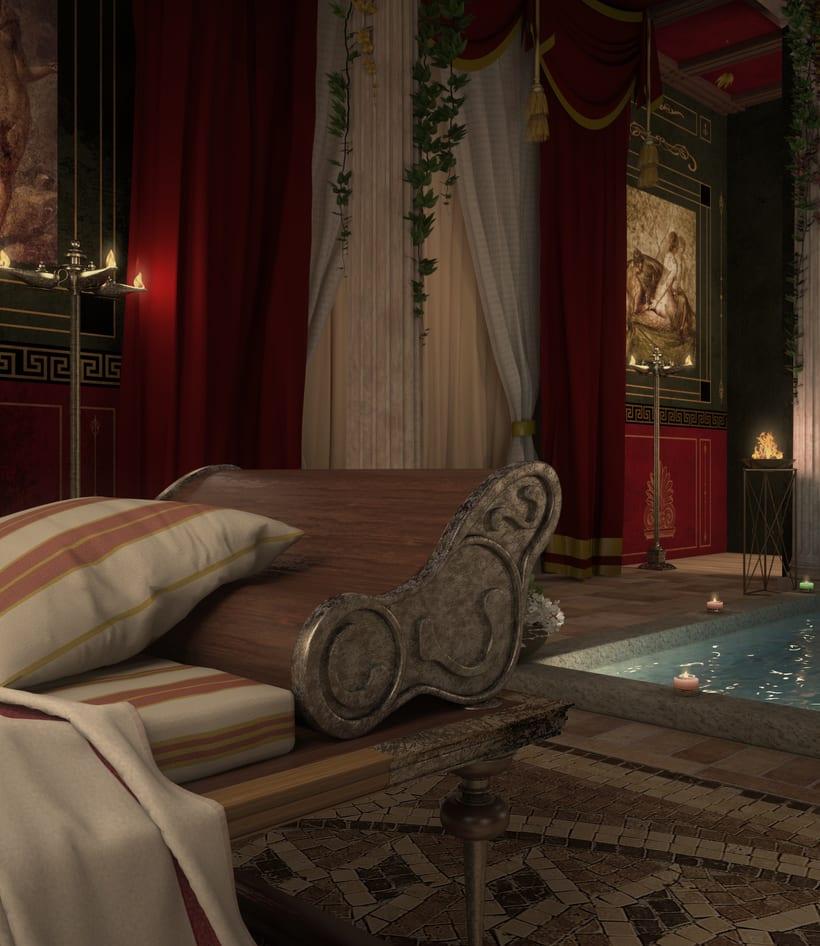 Recreación 3D baño romano 11