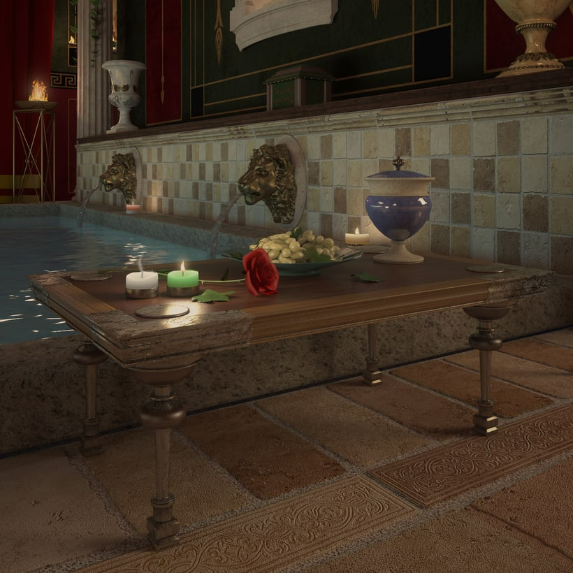Recreación 3D baño romano 12