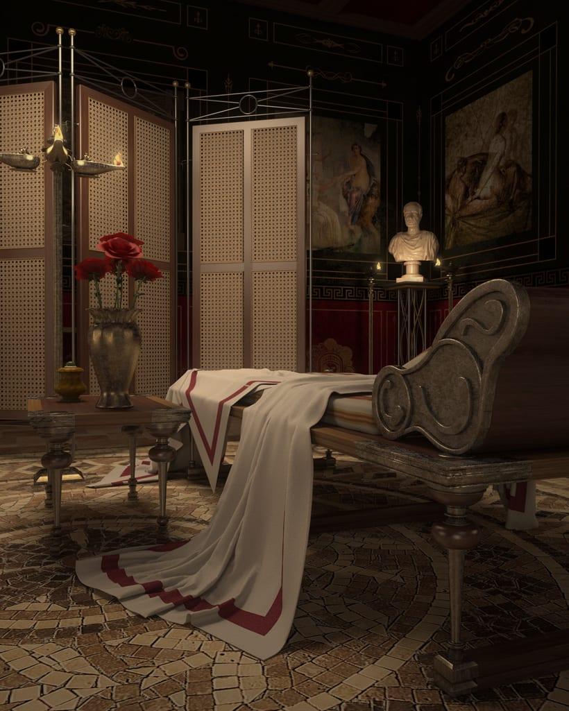 Recreación 3D baño romano 14