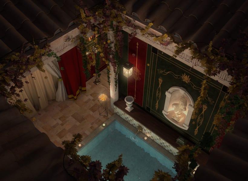Recreación 3D baño romano 15