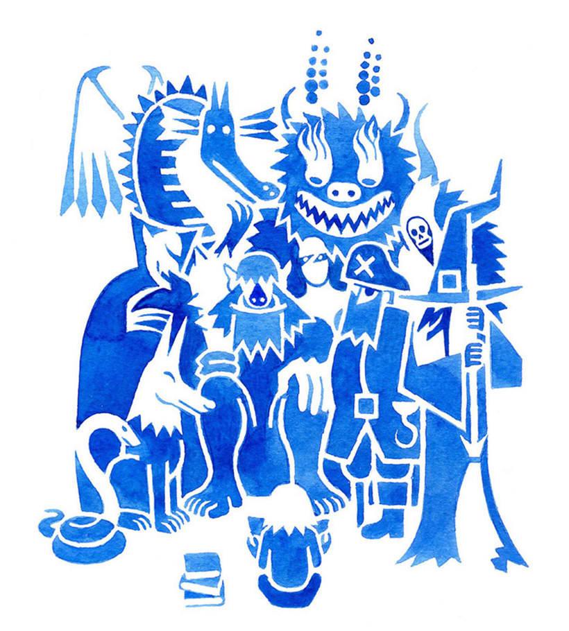 Carlos Arrojo: ilustrando con líneas 15
