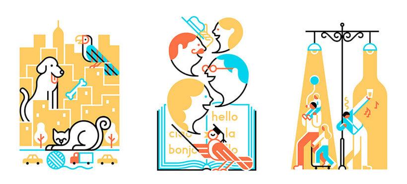 Carlos Arrojo: ilustrando con líneas 16