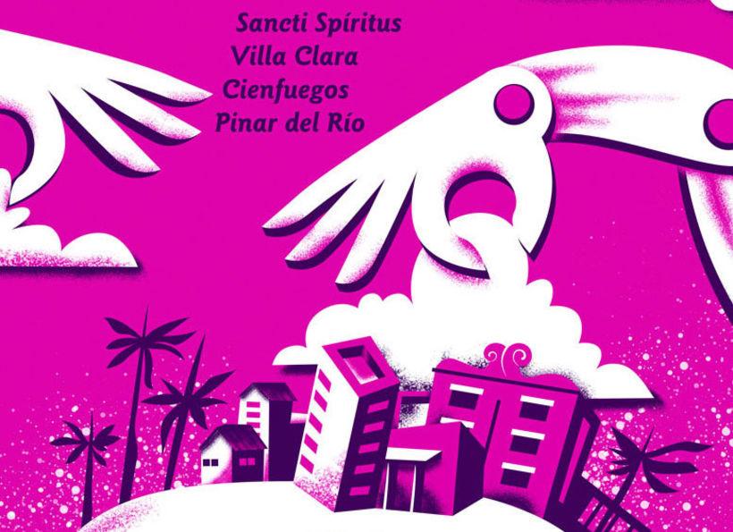 Cartel para gira de grupos teatrales 1