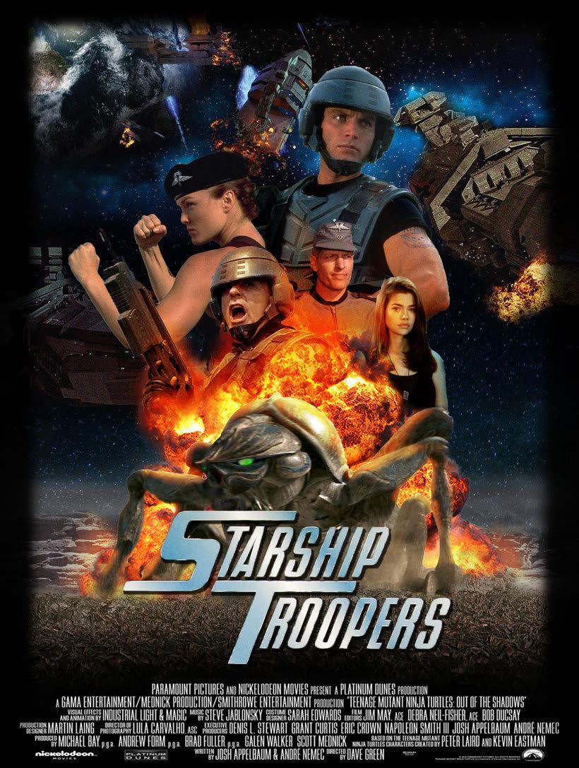 "Cartel de Cine ""StarShip Troppers"" -1"