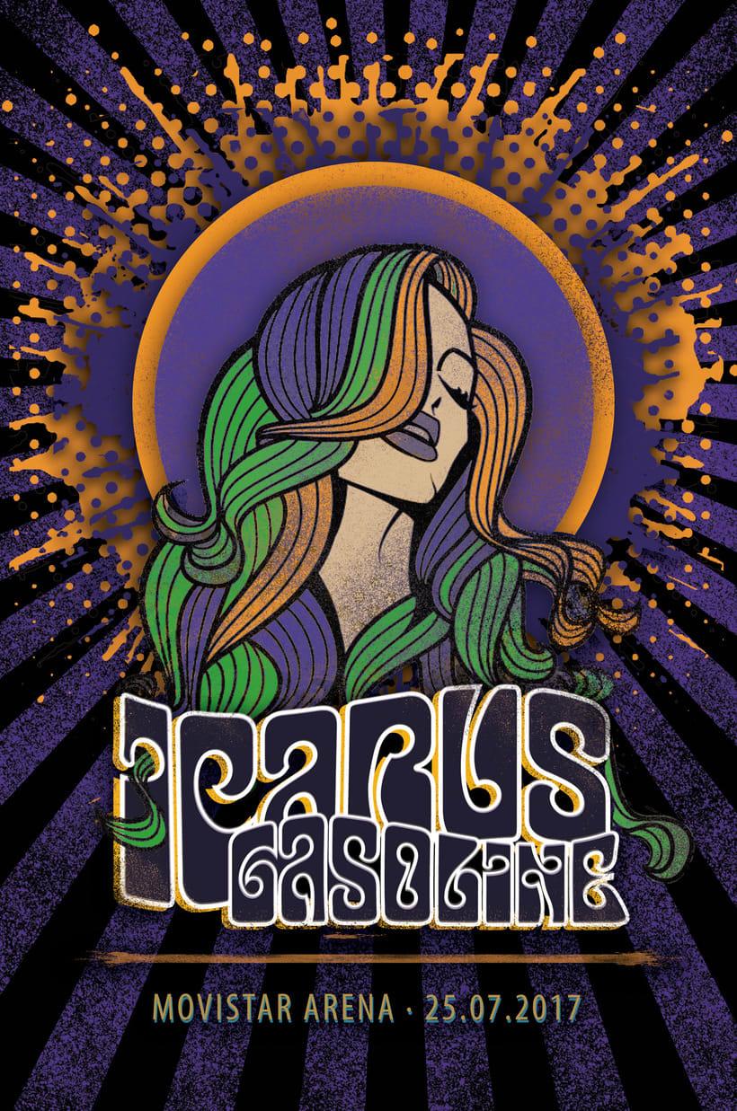 Mi Proyecto: Ilustración para music lovers - ICARUS GASOLINE -1