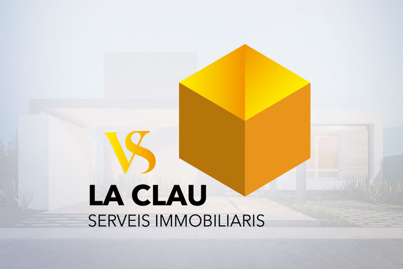 Diseño de Logotipo y de tarjetas para la Immobiliaria La Clau VS. 0