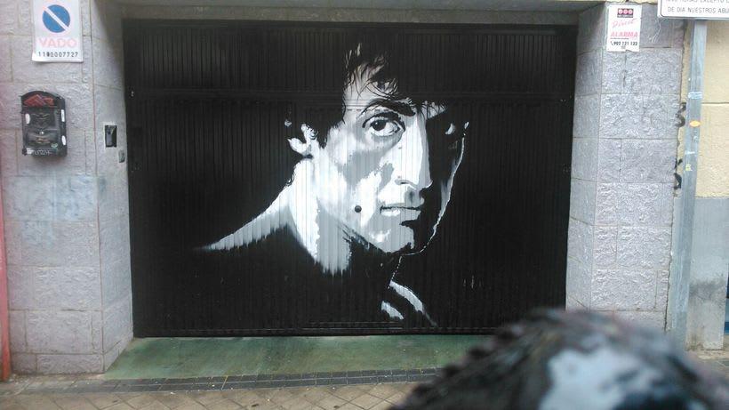 Cierre de Garaje Rotulado con pintura -1