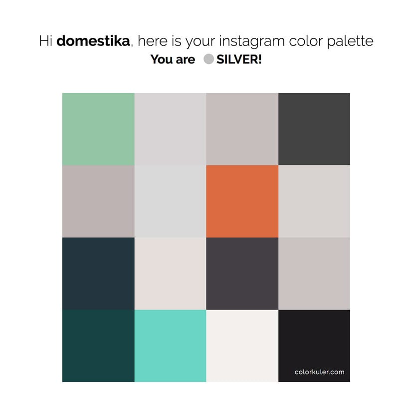 Calcula tu paleta de colores de Instagram | Domestika