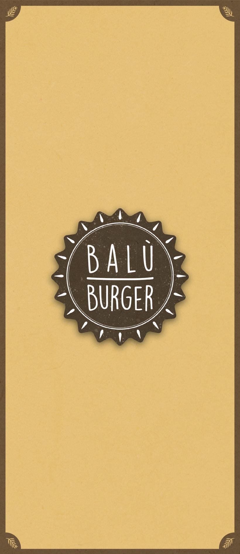 Balù Bureger logo and menu. 0