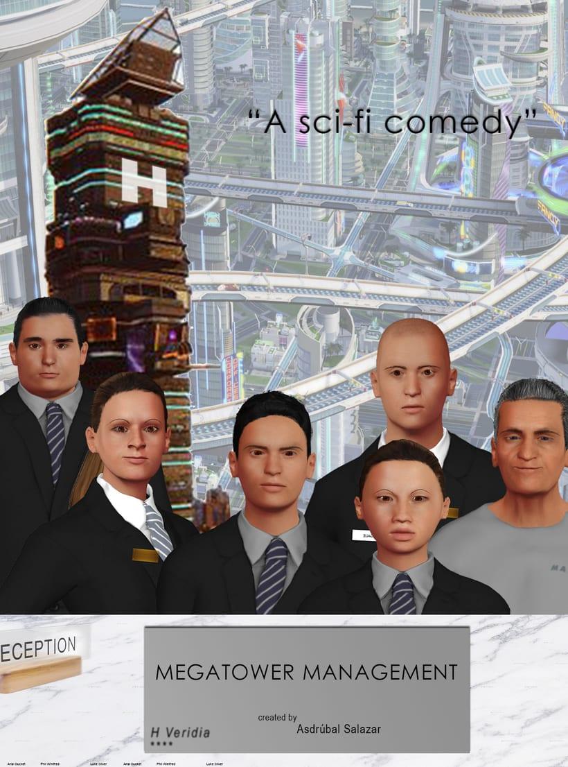 COMEDIA SCI-FI 3D LOW POLY - se buscan artistas 3D - Megatower Management 1
