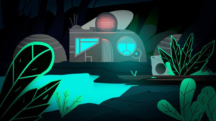 La noche del coyote, una microhistoria animada 8