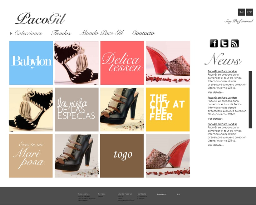 Paco Gil Shoes Website 0