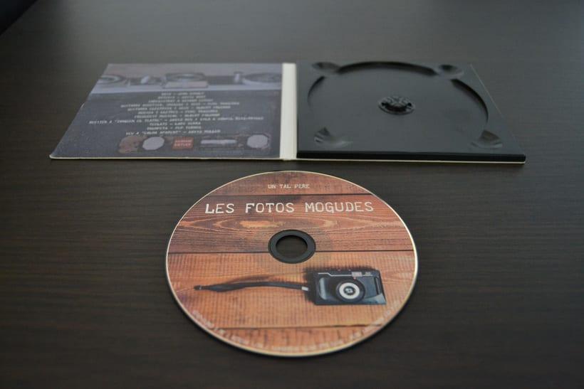 """Disseny CD """"Les fotos mogudes"""" de """"Un tal Pere"""" 5"""