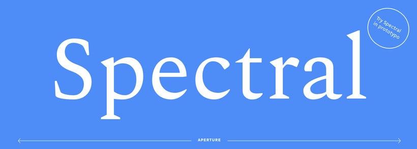 Spectral, la primera tipografía responsive de Google 1