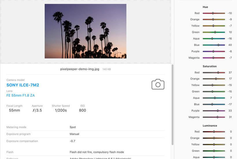 Pixel Peeper revela los secretos del revelado digital 6