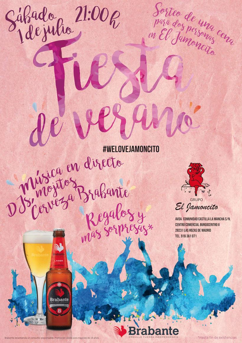 Carteles Fiesta del verano Brabante / El Jamoncito (2015, 2016, 2017) 2