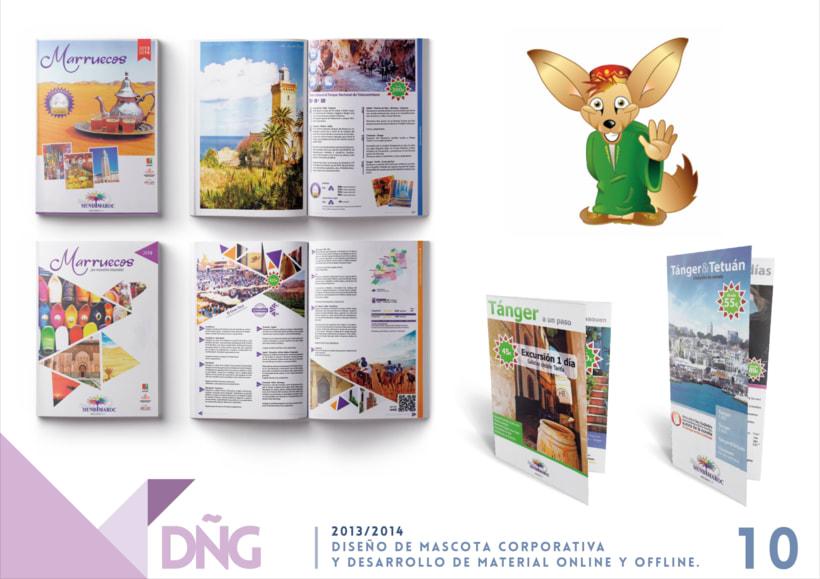 Diseño de Mascota Corporativa y Desarrollo de Material offline y online 0