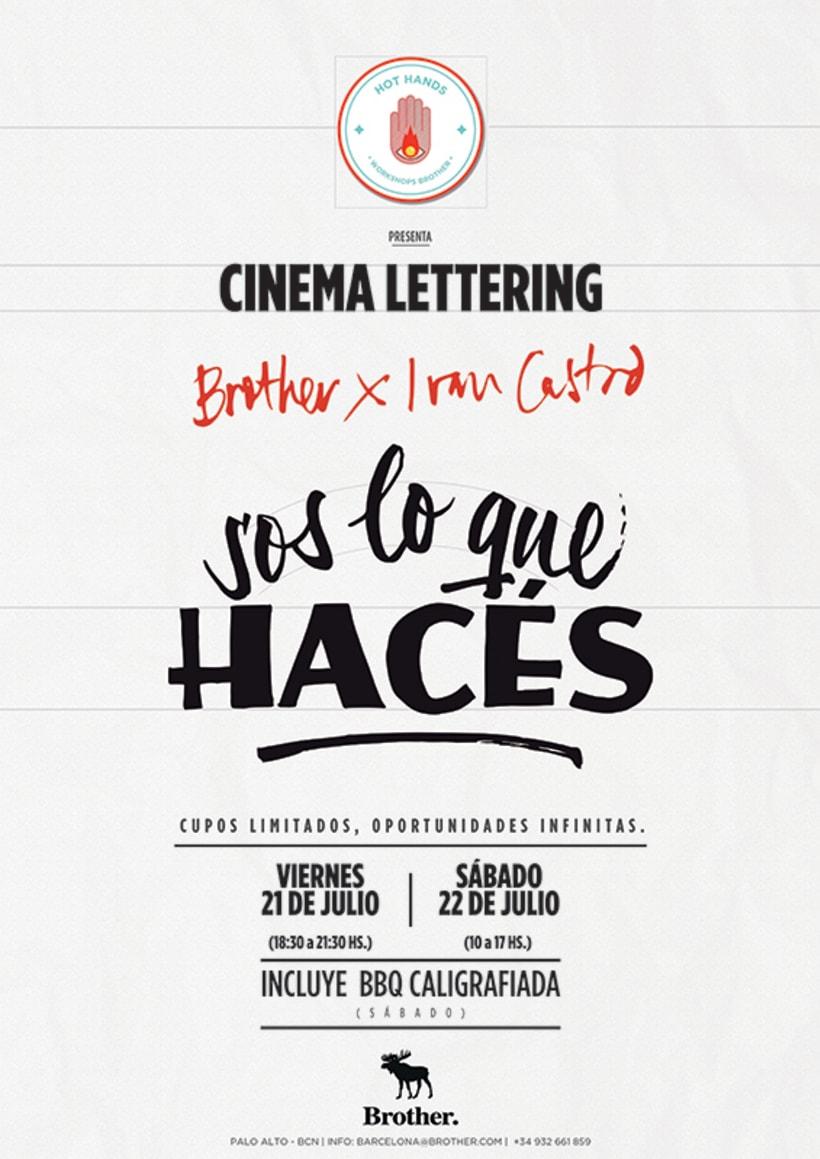 """Llega a Brother """"Cinema Lettering"""" by Ivan Castro, el primer episodio de su ciclo HOT HANDS 1"""