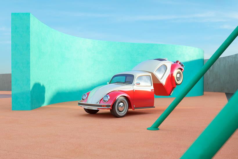 Nostalgia automovilística y diseño 3D se ponen a bailar 1