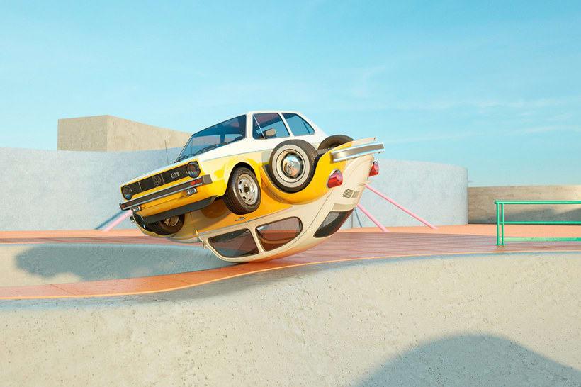 Nostalgia automovilística y diseño 3D se ponen a bailar 3