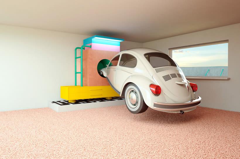 Nostalgia automovilística y diseño 3D se ponen a bailar 8