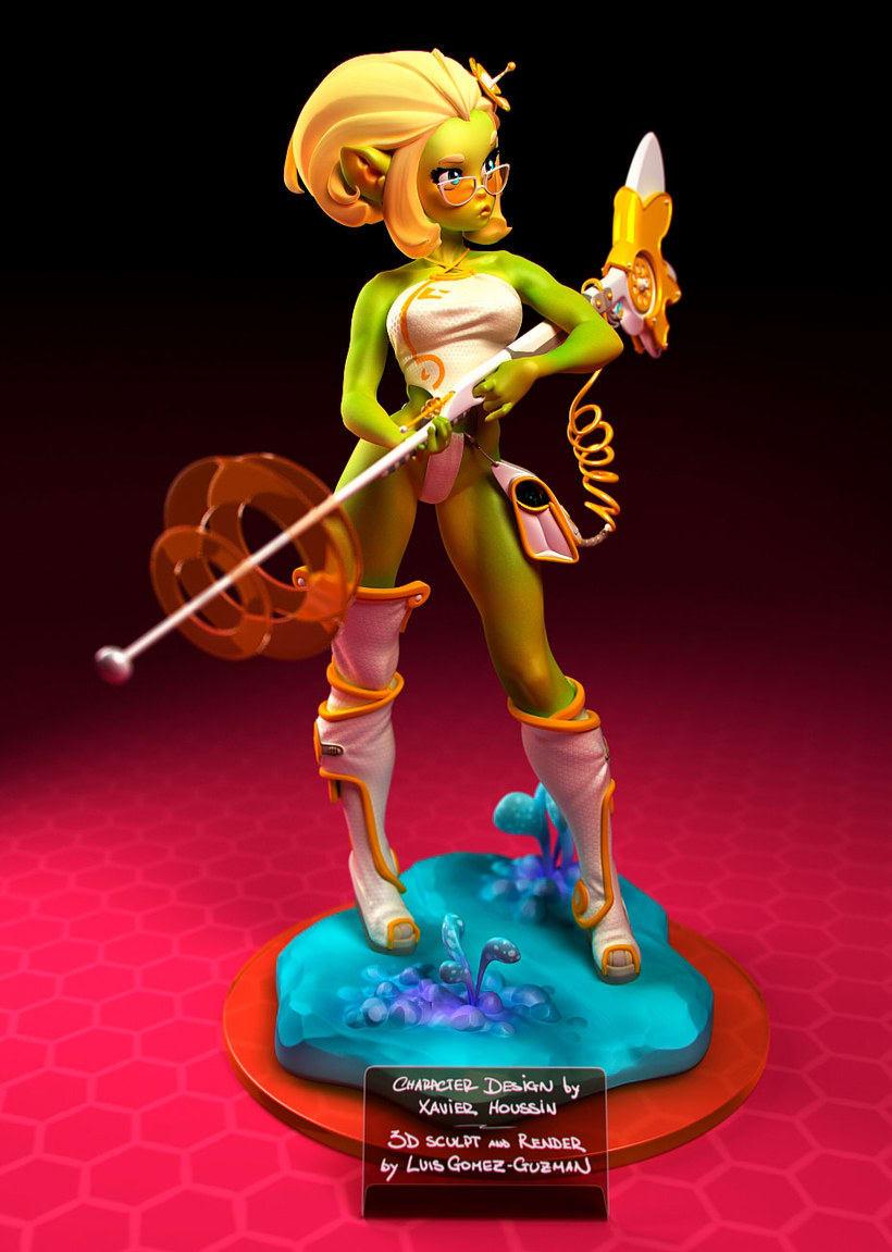 Modelado de personajes en 3D con Luis Gomez-Guzman 9