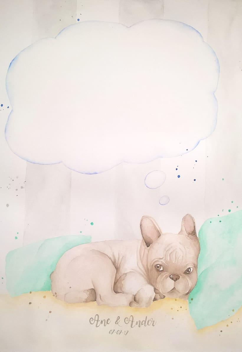 Proyecto curso: Técnicas modernas de acuarela. Pintura de huellas con mascota -1