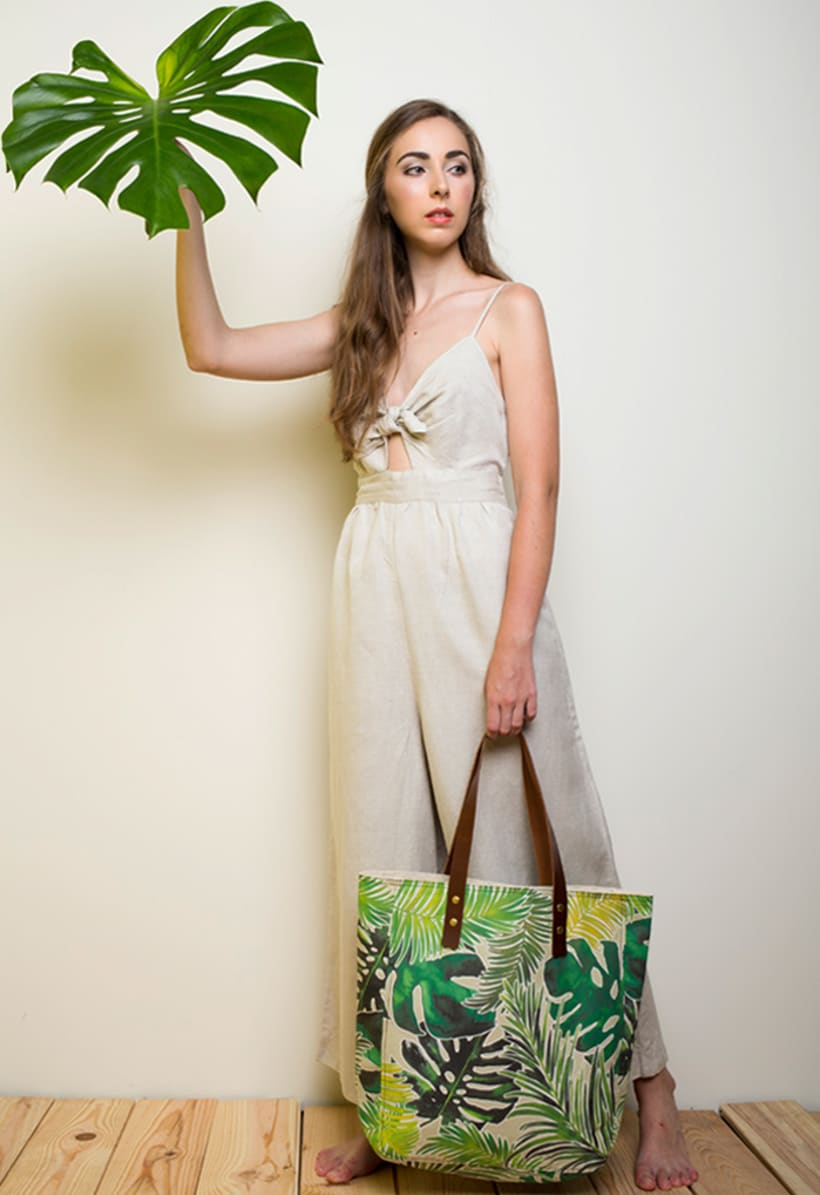 Bolsos estampado tropical 2