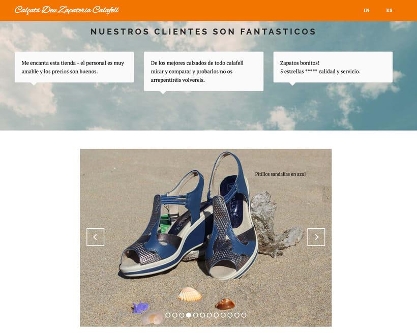 Diseño Web y Fotografia Zapateria -1
